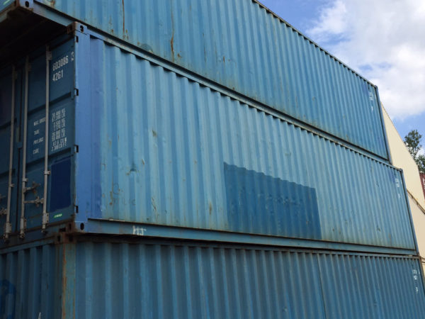"40' x 8' x 8'6"" Used Steel Containers Showing Typical Surface Condition"
