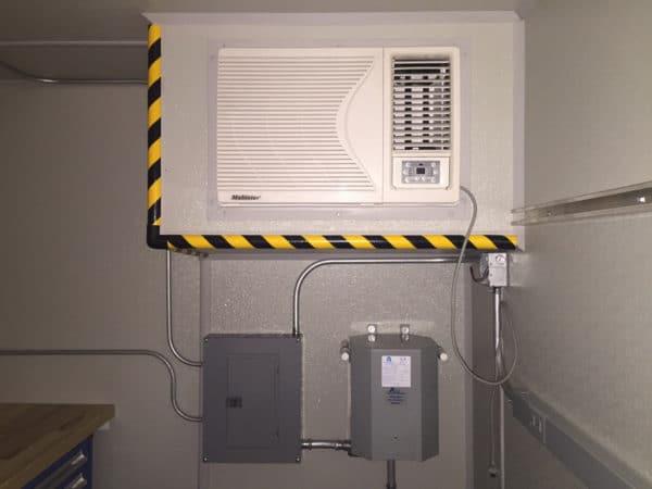Interior Recessed AC with Heat Window Unit